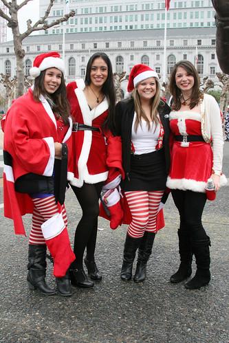 Santa Girls (shaire productions) Tags: sf sanfrancisco santa christmas ...