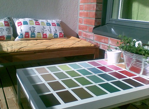 paint chip coffee table