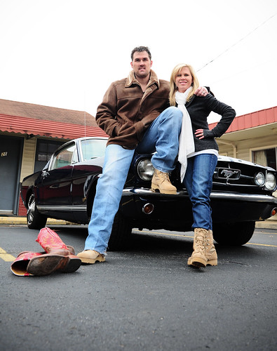 "Marcus Luttrell, Navy SEAL, author of ""Lone Survivor"", Co-Founder of Lone Survivor Foundation,  and Boot Girl Sherri, Director of The Boot Campaign"