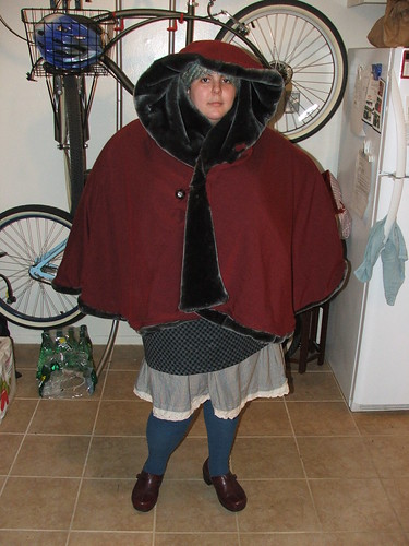 christmas cloak, DIY, fat fashion, marina rose martinez