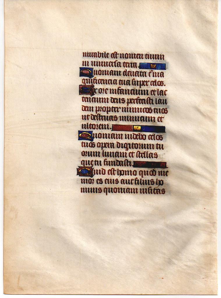 c.1450 Paris, France.  verso.