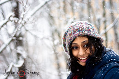 snow queen 2 (fotografimran) Tags: blue winter white snow cold ice girl strange beauty smile look smiling canon fun happy cool eyes sweden great jacket cap bloom surprised snowing norrkping sudden