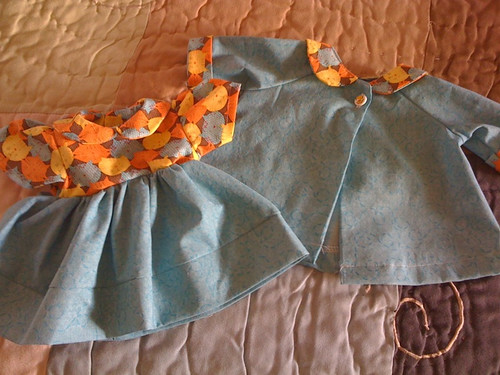 Doll Dress with Matching Coat