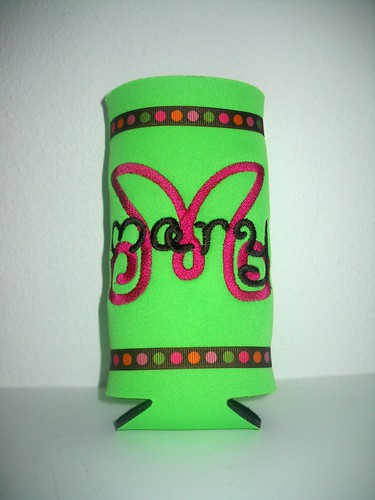 Lime Water Bottle Koozie by pixietailsboutique