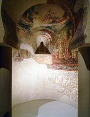 South apse of the Epistle, Sant Quirze de Pedret, reconstruction with doorway