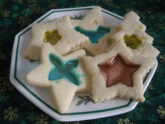 Stained Glass Cookies (Pictures by Ann) Tags: christmas food holiday cooking glass cookies recipe dessert baking cookie cook stainedglass stained memory tradition melted candies bake jollyrancher jollyranchers swapbot stainedglasscookies christmas2010 52weeksofbaking