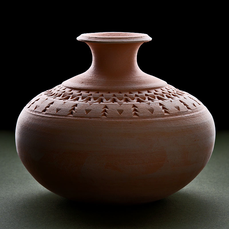 Bisque-Fired Bottle