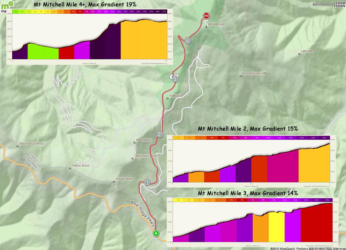 Mt Mitchell West Map Ins Alt