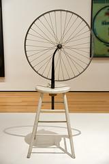 "Marcel Duchamp ""Bicycle Wheel"" at MoMA NYC 12/22/10 (setpower1) Tags: nyc newyorkcity art moma museumofmodernart dada marcelduchamp bicyclewheel"