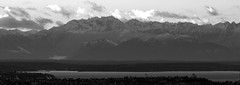 Day 63 of 365 - Black and White Mountains (Andrew.Welker) Tags: city sky bw white mountain lake snow black mountains water fog clouds landscape photography nikon day adams peak andrew 63 neighborhood hills 300mm land 365 range cougar ansel d90 welker