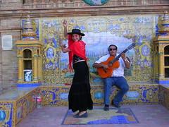 Flamenco a Siviglia in Piazza di Spagna (Armando Moreschi) Tags: imagination andalusia flamenco spagna bailarina bailar bailo phantasmata jugador jugadordeguitarra guitara