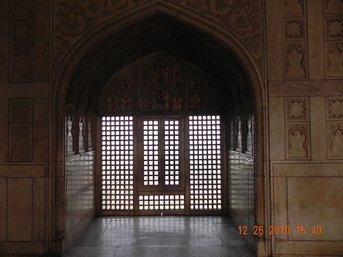 Interiors of the Reg Fort in Agra built during the reign of Mughal Emperor Shah Jahan