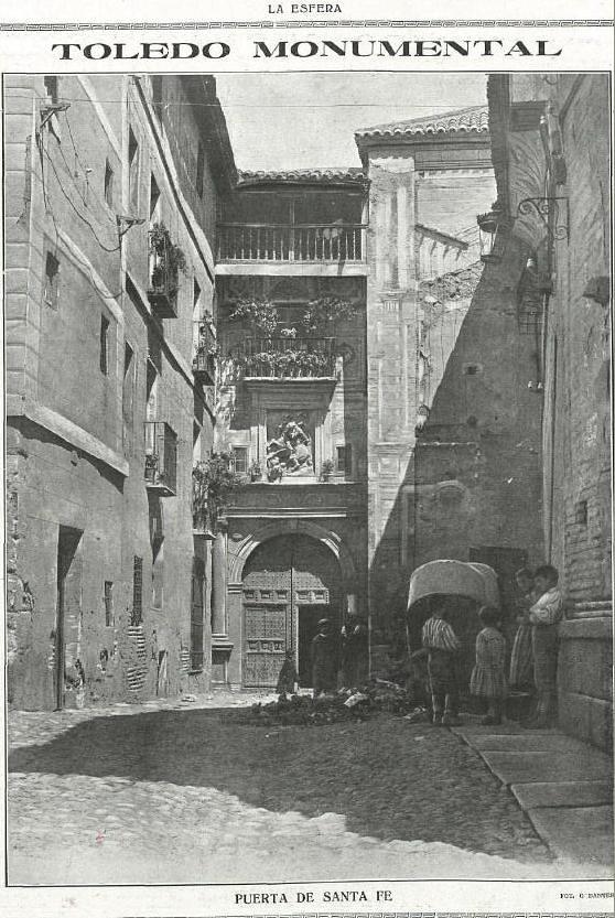 Convento de Santa Fe. Fotografía de Gobantes publicada en agosto de 1917 en La Esfera, número 191