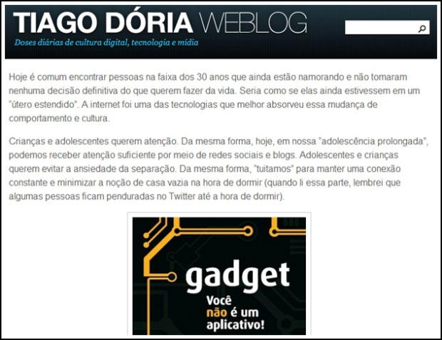 Blog de Tiago Dória