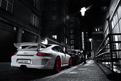 Bring on 2011. (Alex Penfold) Tags: lighting camera london cars alex sports car night canon dark photography photo cool shot nightshot image awesome 911 picture fast super knightsbridge exotic photograph porsche supercar exotica 2010 supercars gt3 penfold 450d hpyer