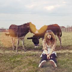 (yyellowbird) Tags: girl square lights donkeys kentucky cari