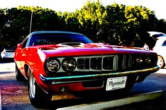 Cuda been worse (Dr Jack Wang) Tags: red classic car key florida muscle plymouth cuda barracuda biscayne colorphotoaward
