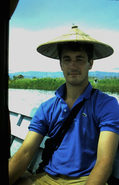 Your blogger, Inle Lake, Burma, 25 years ago
