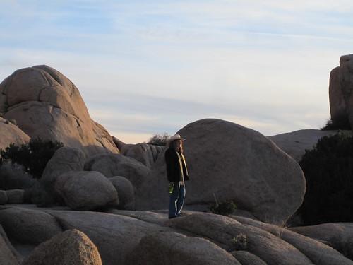 Amy at Jumbo Rocks