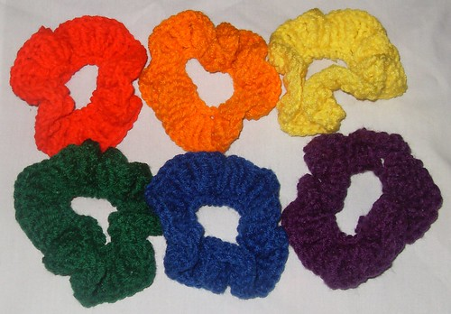 rainbow scrunchies (2)