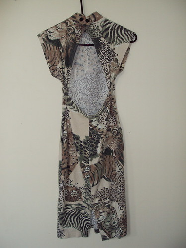 African Animal Print Dress (back)