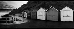 Beach Huts. (T.I Photography) Tags: sea bw beach silver mono pano huts pro efex