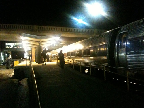 Albany Amtrak at Night