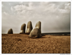 no salvation left (Jordan_K) Tags: sculpture art praia beach uruguay photography sand artist escape artistic perspective surreal jordan feeling hopeless puntadeleste marioirarrzabal