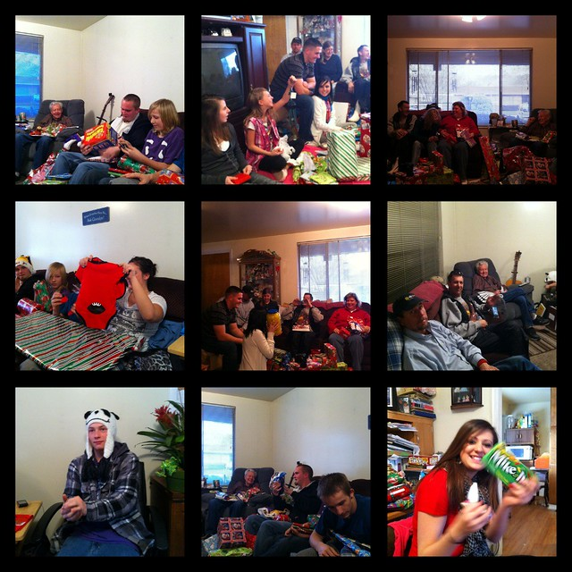 Opening presents collage