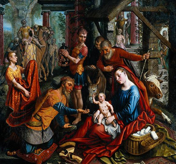 The Adoration of the Magi (middle panel)
