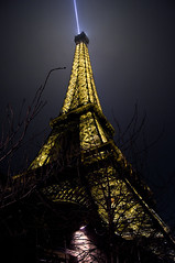 Tour Eiffel - Revisited (Emm Ess) Tags: travel black paris france gold sony eiffeltower latoureiffel toureiffel nightshots sonyalpha ladamedefer flickraward minoltaamount slta55 sony55