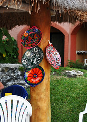 mexico2010_0693_edited-1 (mel_rowling) Tags: decorations art painting mexico crafts cancun plates rivieramaya