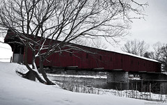 West Montrose Covered Bridge (DHPhotos) Tags: bridge winter ontario canada water river covered coveredbridge westmontrose 2011 dhphotos