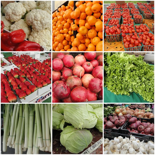 Farmers Market Los Angeles Jan 2010 Collage