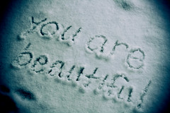 youre oh so beautiful. (jlosbon) Tags: blue winter snow art love canon photography 50mm photo truth youarebeautiful crazybeautiful