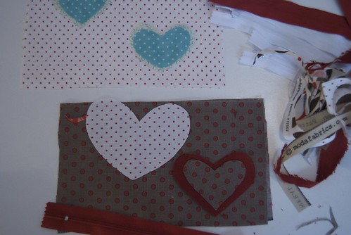 Cutting for Valentine Pouches