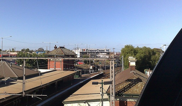 View from Footscray station footbridge