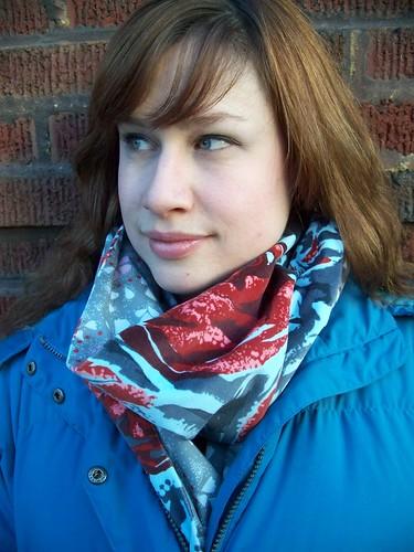sewn scarf