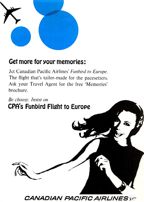 Vintage Ad #1,349: Some Fine 1960s Graphic Design from Canadian Pacific Airlines