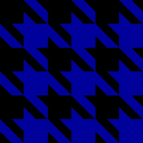 Jumbo Blue Houndstooth