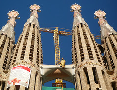 Antoni Gaudí, Sagrada Familia, Spires with Bridge