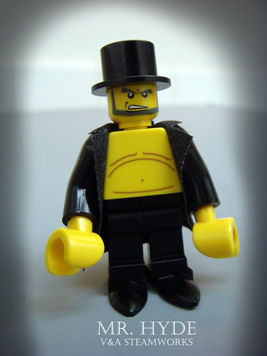 Custom minifig Mr Hyde from V&A Steamworks