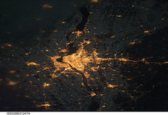 Montreal at Night (NASA, International Space Station, 12/24/10) (NASA's Marshall Space Flight Center) Tags: newyork canada quebec pennsylvania montreal nasa 1001nights ottawariver stlawrenceriver joliette saintjerome sainthyacinthe saintjeansurrichelieu salaberrydevalleyfield soreltracy stationscience crewearthobservation stationresearch
