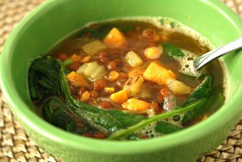 Lentil & Sweet Potato Soup