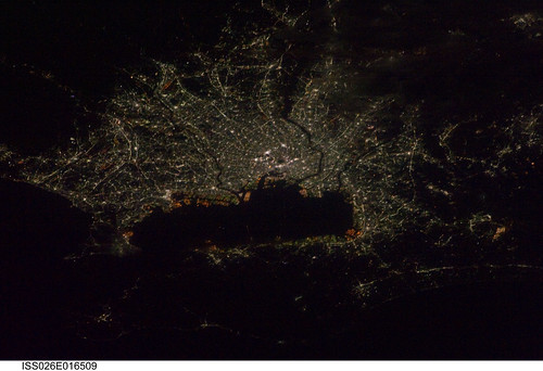 Tokyo, Japan at Night (NASA, International Space Station, 01/09/11)