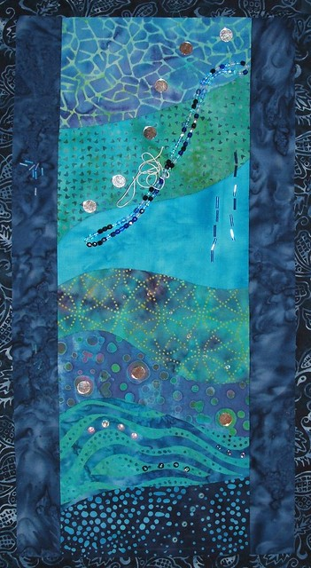 Dr F's quilt - beads strewn 1