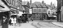 Liverpool - Crosby Village c 1920 (ronramstew) Tags: street old uk 1920s england blackandwhite bw liverpool vintage village postcard lancashire mersey crosby merseyside