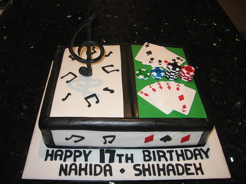 MUSIC AND POKER CAKE