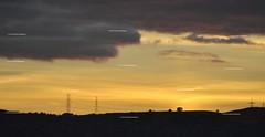 dusk to dawn (nickb101) Tags: sunset red sky hot yellow skyline clouds grey dawn twilight warm bradford sundown cloudy dusk warmth pylons hgwellsthediscoveryofthefuture