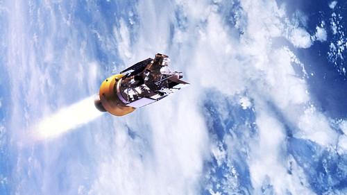 [フリー画像] 工場・産業機械, 天体・宇宙, 人工衛星, 地球, 201101222300